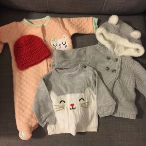 Other - Bundle Baby Girl 0-3 month warm clothes